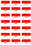 Vienna Flag Stickers - 21 per sheet